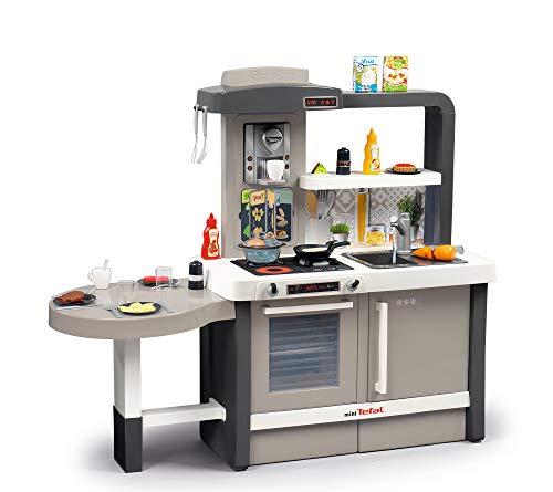 Smoby 312300 Tefal Evo Küche mitwachsende Kinderküche mit Spüle, Herd, Essecke, viel Zubehör,...