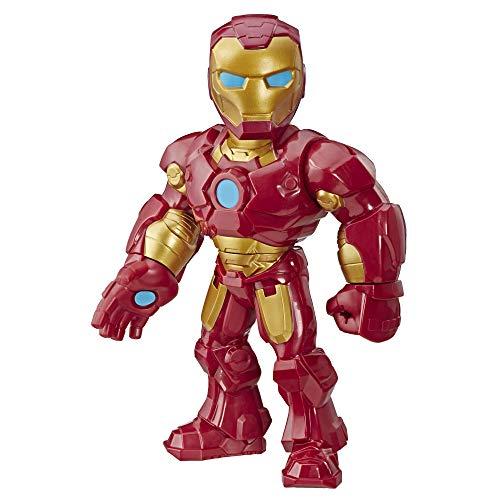 25 cm große Playskool Heroes Marvel Super Hero Adventures Mega Mighties Iron Man Figur zum Sammeln