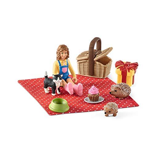Schleich 42426 Farm World Spielset - Geburtstagspicknick, Spielzeug ab 3 Jahren