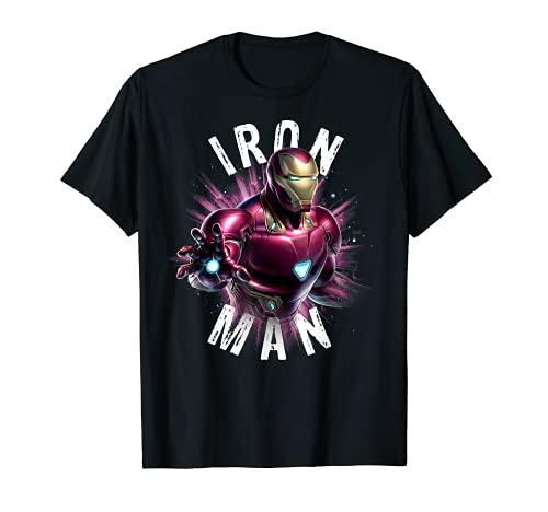 Marvel Avengers Endgame Iron Man Space Poster Graphic Tee