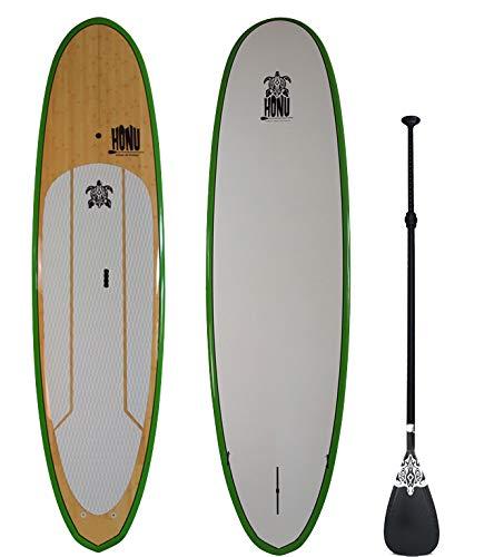 HONU Stand Up Paddle 9'8 – SUP mit Rampe und Derives Finish Bamboo