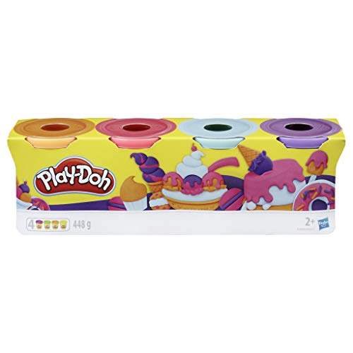 PlayDoh E4869ES0 4erPack Sweet, tolle Farben für Kinder ab 2 Jahren, 112gDosen (pink, hellblau,...