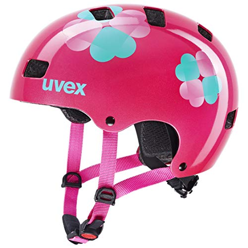uvex Unisex Jugend Kid 3 Fahrradhelm, pink Flower, 55-58 cm