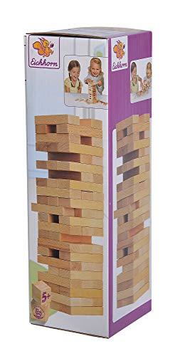 Eichhorn 100002466 Stapelspiel, Geschicklichkeitsspiel für die ganze Familie, Balance Tower gefertigt...