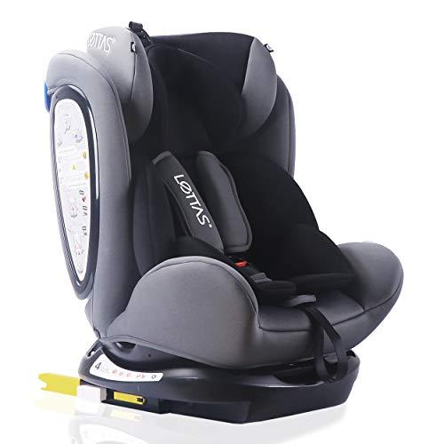 LETTAS Kinder Autositze Sitzschale Baby autositz 0+1/2/3 (0-36 kg) mit Protektoren seitliche Isofix ECE...