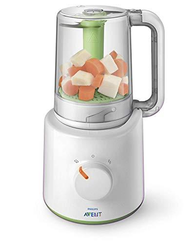 Philips Avent 2-in-1 Babynahrungszubereiter SCF870/20, Dampfgaren und Mixen, 800 ml Kapazität, weiß, 1...