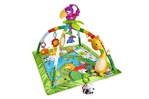 Fisher-Price DFP08 - Rainforest Erlebnisdecke, Krabbeldecke mit Musik und Lichtern, Spieldecke für Babys...