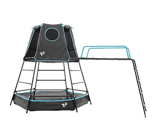 TP Toys Klettergerüst Explorer 306x208x201 cm schwarz Spielturm Spielgerüst Bällebad Spielgerät...