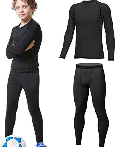 HOPLYNN - Thermounterwäsche Set für Kinder Funktionsunterwäsche Skiunterwäsche Jungen Atmungsaktiv...