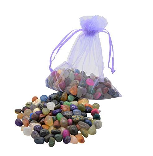 AMAHOFF 100 Edelsteine (trommelpoliert) - Natursteine 10-15mm - Optimal für Kalaha, Hus oder Bao -...