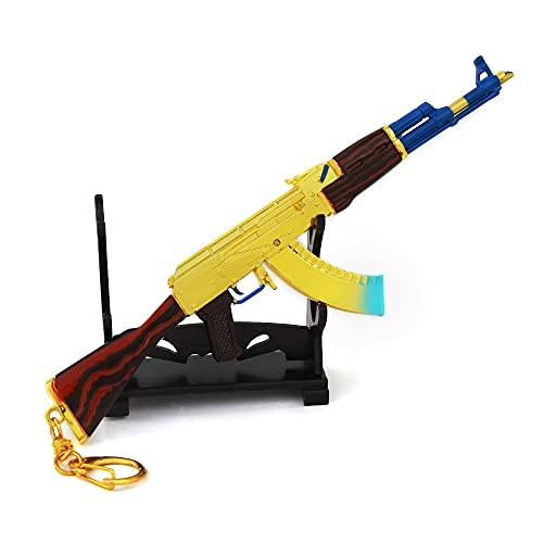 RSHJD Waffe Schlüsselanhänger, Spielzeugwaffe Keychain Set, Metallhandwerk Ornamente Geschenke für...