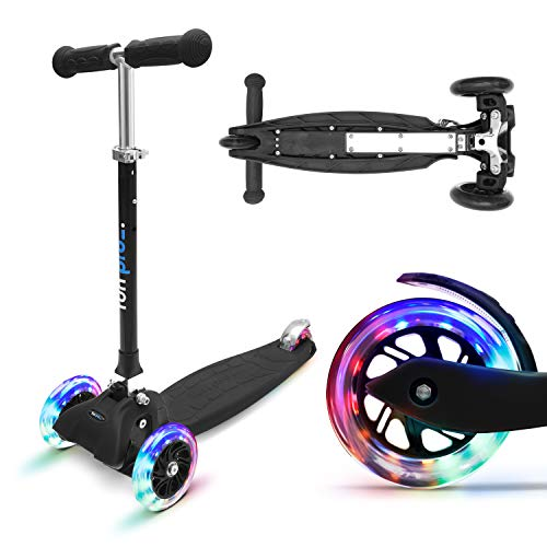 fun pro ONE - der sichere Premium Kinder Roller, LED 3 (DREI) Räder, faltbar, ab Kleinkind (Kickboard,...