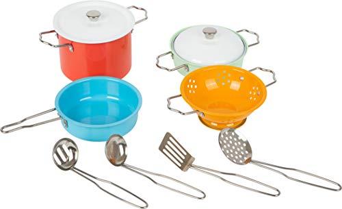 Small Foot 11751 Kochgeschirr-Set Metall, Zubehör für Spielküche, Rollenspielzeug für Kinder ab 3...