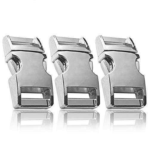 Klickverschluss aus Metall im 3er Set, 3/4'' Klippverschluss/Steckschließer/Steckverschluss für...