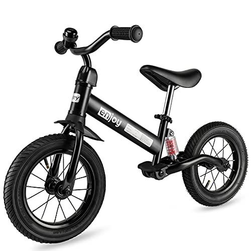 besrey Kinder Laufrad Kinderlaufrad Gummireifen Kinder Fahrrad ab 2 Jahren mit Stoßdämpfern und 12 Zoll...