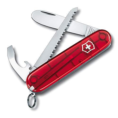 Victorinox Kinder Taschenmesser My First Victorinox H (9 Funktionen, Runde Klinge) rot transparent