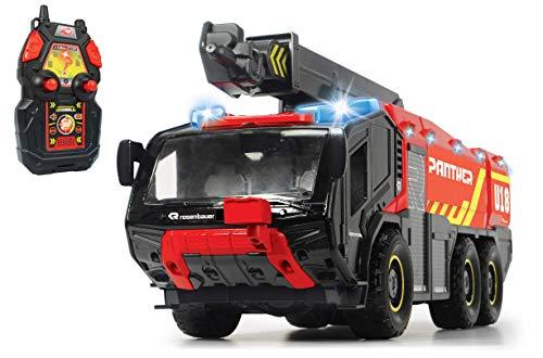Dickie Toys RC Flughafenfeuerwehrauto, mit 4-Kanal Fernsteuerung, Panther 6x6, Rosenbauer, ferngesteuerte...