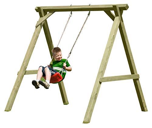 Schaukel aus Holz für Kinder Einzelschaukel Premium Typ 1.1 aus Kreuz-Holz, TÜV