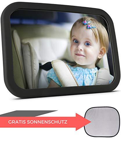 Babyspiegel für's Auto + Sonnenschutz   Rücksitzspiegel für Babys - Autospiegel - Rückspiegel für's...