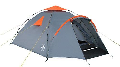Lumaland Outdoor Pop Up Familienzelt Wurfzelt 3 Personen Zelt Camping Festival etc. 220 x 220 x 130...