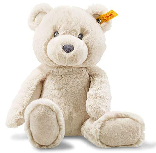 Steiff Bearzy Teddybär - 28 cm - Kuscheltier für Babys - Soft Cuddly Friends - weich & waschbar - beige...