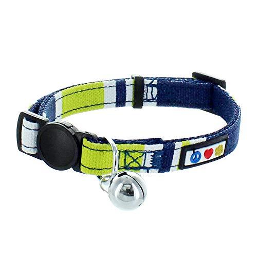 PAWTITAS Haustier-Halsband für Katzen, weich, verstellbar, mit Sicherheitsschnalle und abnehmbarem...
