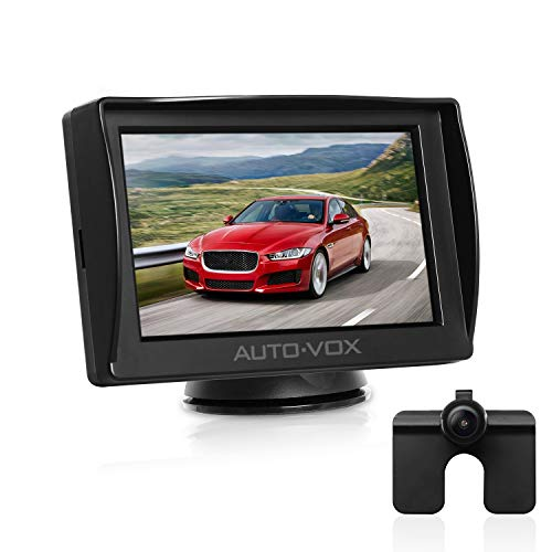 AUTO-VOX M1 Rückfahrkamera mit Monitor, IP68 wasserdichte AutoKamera für Einparkhilfe Rückfahrhilfe...