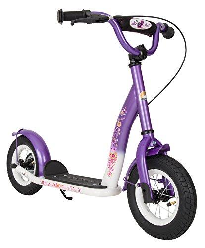 BIKESTAR Roller Kinderroller Tretroller Kickscooter mit Luftreifen für Mädchen ab 4 - 5 Jahre   10 Zoll...
