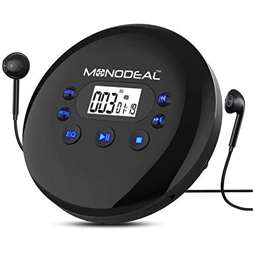 MONODEAL Tragbar CD-Player, 2021 Personal CD Player, Tragbarer Discman mit...