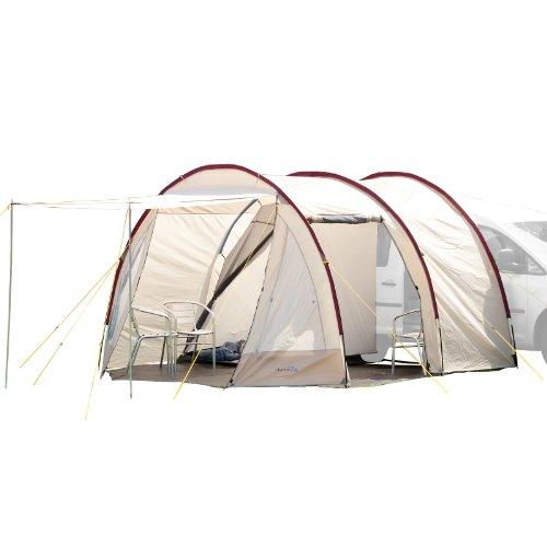 Skandika Camper Tramp Busvorzelt | Freistehend mit Schlafkabine für 2 Personen, Stehhöhe 2,1m,...