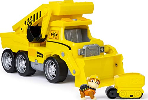 PAW Patrol 6046466 - Ultimate Construction Truck mit Rubble - Figur