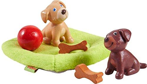 HABA 303892 - Little Friends – Hundebabys | Süße Haustiere für die Little Friends-Biegepuppen | Mit...