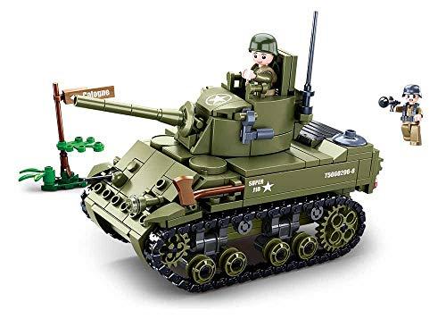 Sluban Klemmbausteine SL95716, WWII - Leichter All. Panzer (344 Teile)[M38-B0856], Spielset ,...