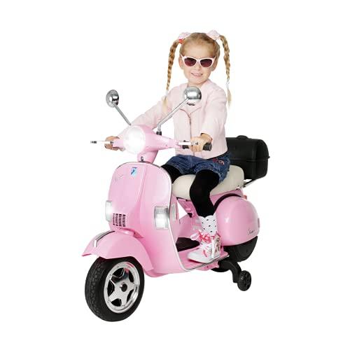 Actionbikes Motors Kinder Elektroroller Vespa PX150 - Lizenziert - 2x18 Watt Motor - Eva Vollgummi Reifen...