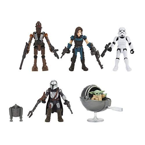 Hasbro F1198 Wars Mission Fleet The Child Beschützer 6 cm große Figuren 5er-Pack mit Accessoires,...