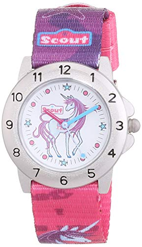 SCOUT Mädchen-Armbanduhr 280378008,Mehrfarbig