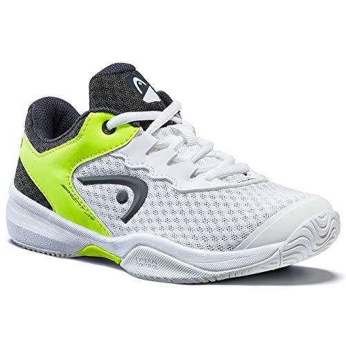 HEAD Unisex-Kinder Sprint 3.0 Junior Tennisschuh , weiß / neon gelb, 40 EU