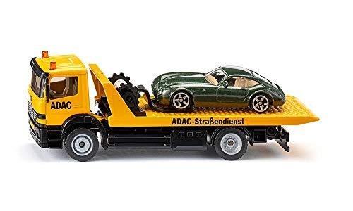 Siku 2712, Abschleppwagen, 1:55, Metall/Kunststoff, ADAC-Optik, Inkl. abzuschleppendem Spielzeugauto,...