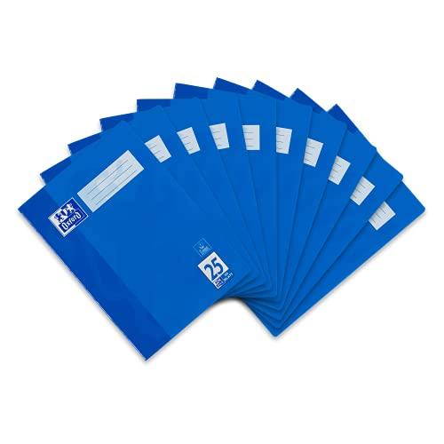 Oxford Schulheft A4 liniert, Lineatur 25, 32 Blatt, blau, 10 Stück