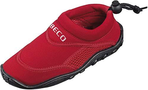 BECO Badeschuhe / Surfschuhe für Damen und Herren rot 43