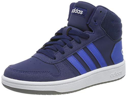 adidas Jungen Unisex-Kinder Hoops Mid 2.0 K Basketballschuhe, Mehrfarbig (Azuosc/Azul/Ftwbla 000), 31 EU