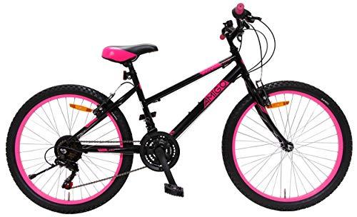 Amigo Power - Mountainbike für Mädchen - 24 Zoll - Shimano 18-Gang - geeignet ab 135 cm - mit...