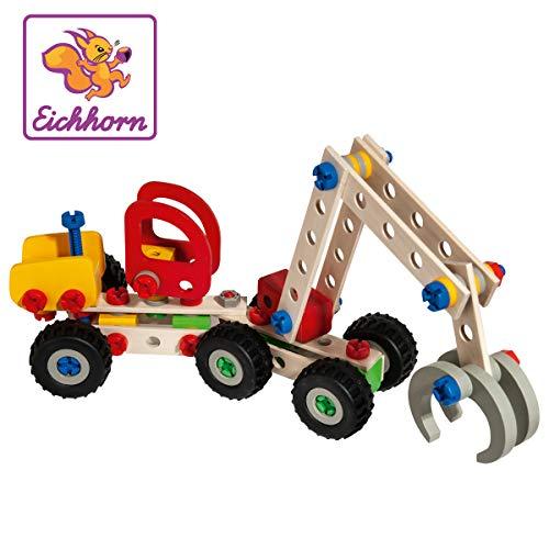 Eichhorn 100039058 - Constructor Harvester, 140-tlg., Holz Konstructions-Set, 3 verschiedene...