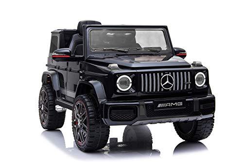 RIRICAR Elektrisches Auto für Kinder, Mercedes G Neu, Schwarz, mit 2,4 GHz Fernbedienung, 1 Sitzer,...
