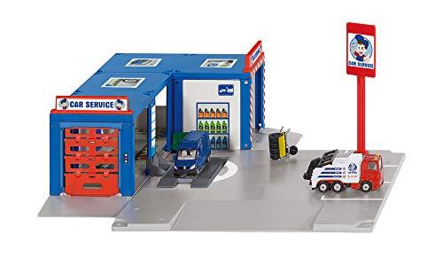 SIKU 5507 - Werkstatt Car Service, Kunststoff, Inkl. 2 SIKU Fahrzeugen, Viele Funktionen, Bis Maßstab...