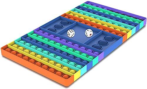 Big Pop Fidget Toys, Dual Player Push Bubble Pop sensorisches Schachbrett Spielzeug für Eltern-Kind,...