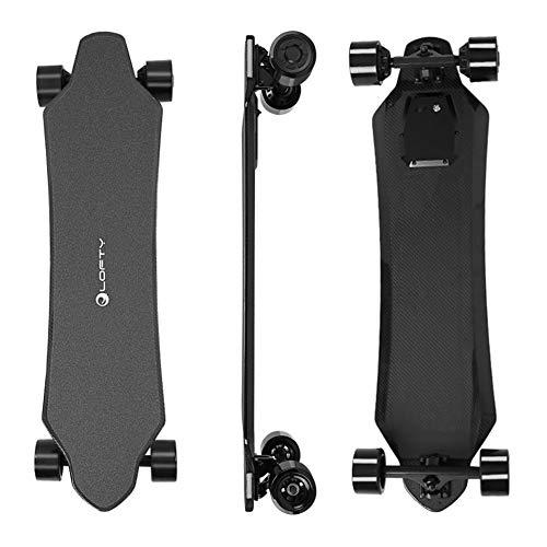 Ewila 37' Carbon-Faser-Elektro-Skateboard Longboard mit drahtloser Fernbedienung, 24,8 MPH...