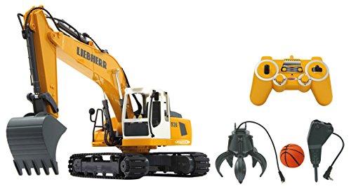 JAMARA 405112 - Bagger Liebherr R936 1:20 2,4G Destruction-Set - inklusiv Schalengreifer und...