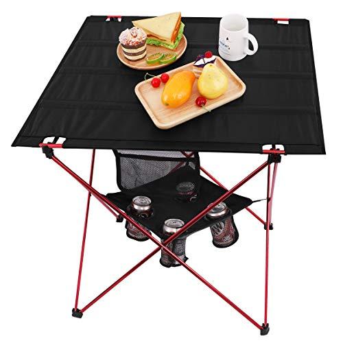 MOVTOTOP Klapptisch Campingtisch 73 * 55 * 53cm Multifunktionstisch Tragbar klappbar Camping Tisch für...