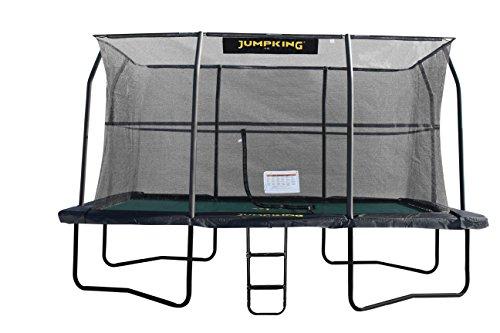 Outdoor trampolin - 518 x 366 cm - Mit sicherheitsnetz - Belastbarkeit 140 kg - Schwarz